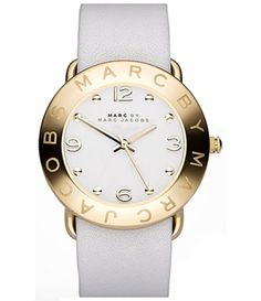 Marc by Marc Jacobs Women's Amy Strap White Leather Quartz Watch Marc Jacobs Uhr, Marc Jacobs Watch, Leather And Lace, White Leather, Handbag Accessories, Jewelry Accessories, Quartz Watch, Jewelry Watches, Nordstrom