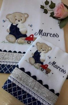 Shoulder Diaper, Walking Diaper and Baby Diaper Embroidery On Clothes, Baby Embroidery, Applique Embroidery Designs, Machine Embroidery Applique, Baby Quilt Size, Baby Quilts, Baby Set, Designer Baby, Baby Applique