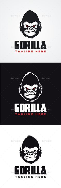 Angry Gorilla Logo Template #design #logotype Download: graphicriver.net/...