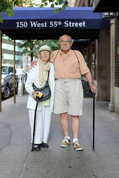 Older couple in New York. Check out all the photos and the stories in Humans of New York.