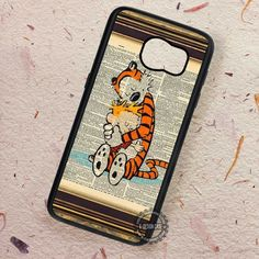 Calvin and Hobbes Print Vintage Dictionary - Samsung Galaxy S7 S6 S5 Note 7 Cases & Covers
