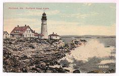 Portland, Maine, lighthouse, 1913 postmark