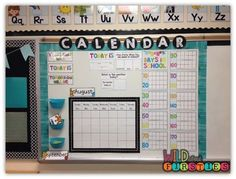 Setting Up Your Calendar! {and it's all FREE!} (Wild About Firsties!) Setting Up Your Calendar! {and it's all FREE!} (Wild About Firsties! First Grade Classroom, Classroom Setting, 1st Grade Math, Classroom Themes, School Classroom, Future Classroom, Classroom Design, Grade 1, Chevron Classroom