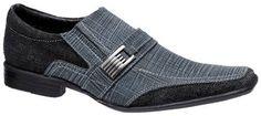sapato social masculino em couro jeans