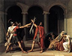 "Jacques-Louis David, ""The Oath of the Horatii"""