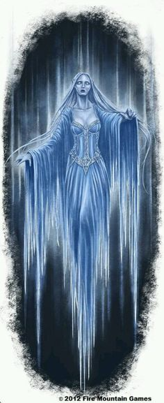 Blue banshee, I could be this ghostly, but since im enchanted...  very rare to see me full blown specter.