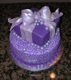 Oooo! My favorite color just what i was looking for  pretty cakes   Pretty in Purple — Birthday Cakes