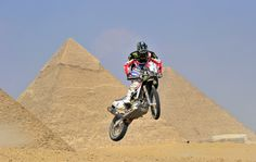 Joan Barreda jumps to the victory of the Pharaons Rally in Egypt