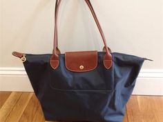 Longchamp Tote Bag, navy blue--mine has birds on it--thank you Sue!