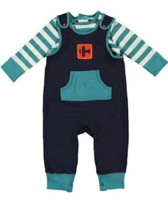 Amazon.com: Offspring- Baby Boys Airport Overall Pant Set: Clothing