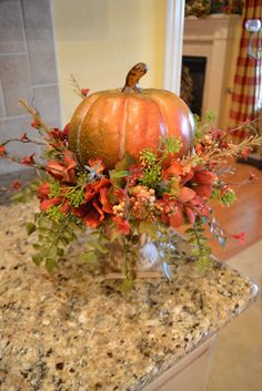 a little pumpkin arrangement for  your fall decor