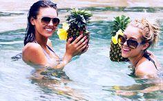 pools & pineapple drinks.