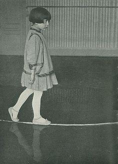 Circa 1927- Walking on the line