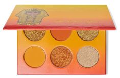 The Nubian Glow Gift Set – Juvia's Place Shades Of Yellow, Orange Yellow, Glow Palette, Indie Makeup, New Product, Lip Balm, Neon, Texture, Surface Finish