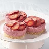 Dairy Free Strawberry Mousse Jar Cakes   - Coles Recipes & Cooking Replace almonds with GF weetbix. Make base only and use strawberry mousse recipe for tops.