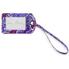 Vera Bradley Luggage Tag in Lilac Tapestry ($12) ❤ liked on Polyvore featuring bags, luggage and lilac tapestry