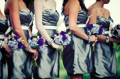 Tailored Engagements assisted in the styling of this good looking bunch of Bridesmaids.    Photo by David Orndorf.