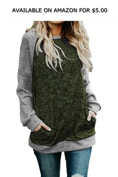 e4e40808554903 SEHOO Women s Oversized Sweatshirts Long Sleeve Knit Tunic Tops Shirts (S