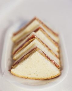 Peanut butter and honey tea sandwiches. Cut into cute shapes.
