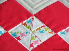 Argyle Pinwheel Pillow, quilted pillow cover, HST, wip