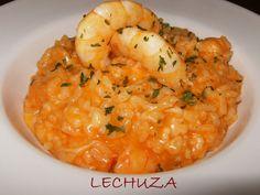 Risotto de langostinos http://www.lacocinadelechuza.com/2013/06/arroz-cremoso-risotto-de-langostinos.html