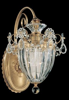 The Schonbek Bagatelle 1240 is a crystal wall sconce
