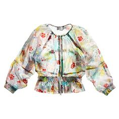 Budding interest: Tug the back drawcord on the blousy Adidas by Stella McCartney Studio Floral Jacket ($190; adidas.com) to cinch the waist—and show off your toned shape.   Health.com