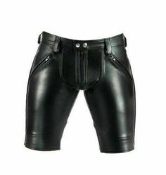 Men's Real Lamb Leather Black Biker Short Pure Genuine Leather Motorbike short by ScanzaLeatherGear on Etsy Sheep Leather, Cowhide Leather, Leather Men, Black Biker Shorts, Leather Shorts, Motorbike Jackets, Uniform Shirts, Vintage Leather Jacket, Pure Products
