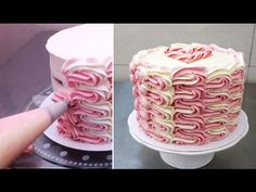 Buttercream Cake Decorating/Decorar con manga pastelera - YouTube