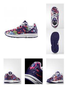 4056567507557   #adidas #Originals #ZX #FLUX #Sneaker #low #collegiate #purple/white #für #Kinder