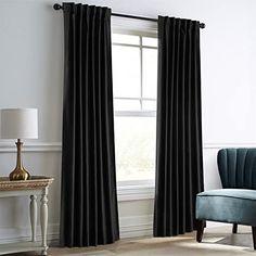 """Gray 96/"""" H Velvet Curtain Long Panel Drape Media Theater Room//Modern Housewares"""