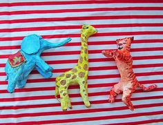 How to make easy Paper Mache Animals - Step by step Phototutorial - Bildanleitung