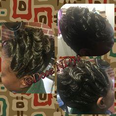 Hairstyles for Black Women | Fingerwaves | Frenchroll | Black Hair Care | Relaxed Hair