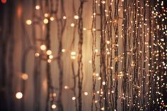 sparkly lights behind the separating curtains! These are perfect!