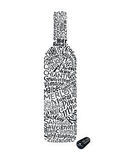 WINE TYPES (White) by Dex   Artfinder