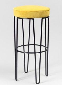 Jean Royère; Enameled Metal Barstool, c1950.