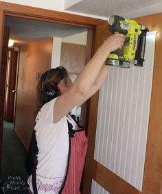 How to Add Molding Panels to a Flat Door - Pretty Handy Girl Home Improvement Projects, Home Projects, Home Renovation, Home Remodeling, Expedit Regal, Hollow Core Doors, Home Repair, Decoration, Home Decor