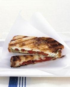 Pressed Mozzarella and Tomato Sandwich | Recipe | Mozzarella ...