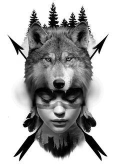 Wolf Tattoo Sleeve, Leg Tattoo Men, Tattoo Ink, Arm Tattoo, Sleeve Tattoos, Native American Tattoos, Native Tattoos, Lion Tattoo Design, Tattoo Design Drawings