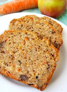 Chlebíček z cukety, mrkve, jablek a vlašských ořechů Baby Food Recipes, Low Carb Recipes, Sweet Recipes, Snack Recipes, Dessert Recipes, Cooking Recipes, Healthy Recipes, Snacks, Pumpkin Banana Bread
