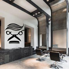 Wall decal decor decals sticker art hair salon