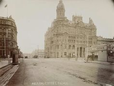 Federal Coffee Palace on the corner of Collins and Kings St,Melbourne in 1890.