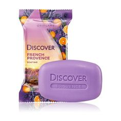 Inspired by the amazing colors and smell of lavender in the French province of Provence. This scented soap gently cleanses the skin and gives it an ethereal aroma of relaxing lavender and juicy oranges. Lavender is the soul of Provence. Soap Packaging, Packaging Design, Packaging Ideas, Natural Body Wash, Oriflame Cosmetics, Cosmetic Design, Press On Nails, Smell Good, Keto Snacks