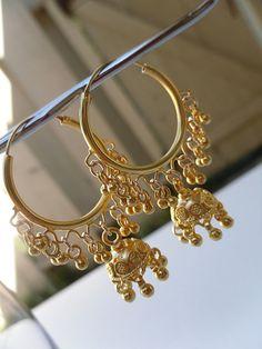 Jaipur Jhumkas   Gold Vermeil Jhumkas by jhumkas on Etsy, $149.00