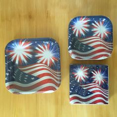 Patriotic American Flag Paper Plate Napkin Stars Stripes Election Party Serve 16 #NotApplicable