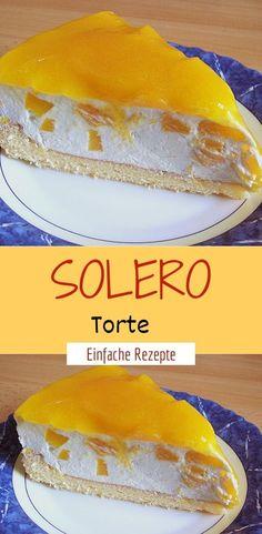 Solero Torte Zutaten 2 ei(er) 75 g puderzucker 75 g speisestärke pck. Dose/n pfirsich(e) 2 pck. Schlagsahne, à 200 g 1 pck. Vanillinzucker 250 ml maracujasaft 3 pck. Healthy Dessert Recipes, Health Desserts, Healthy Baking, Easy Desserts, Delicious Desserts, Dessert Food, Laura G, Bienenstich Recipe, Passion Fruit Juice