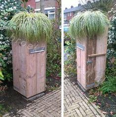 Broekhof Wonen • Meubels op maat gemaakt Mail Art, Mailbox, Diy And Crafts, Diys, Porch, Shed, Outdoor Structures, Toilet, Container