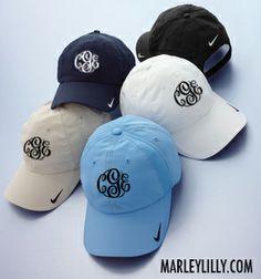 Monogrammed Nike Baseball Hat | Custom Cap | Personalized Marley Lilly