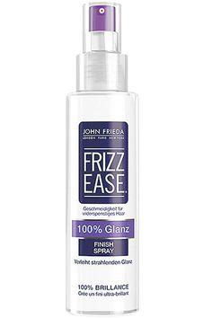 """Frizz Ease 100% Glanz""-Finish-Spray von John Frieda, um""‰10 Euro."