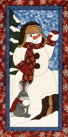 Make this snowman quilt magic kit without having to sew or glue.